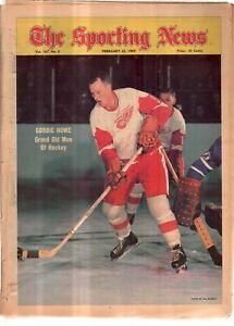 The Sporting News Newspaper Feb 22, 1969 Grand Old Man of Hockey Gordie Howe G