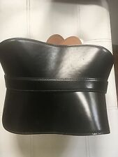 Alexander McQueen ancho Cinturón de Cuero Negro Corsé Modelador De Cintura Correa UK 12