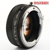 Zhongyi Lens Turbo II Focal Reducer Booster Adapter Nikon F AI to Sony E NEX 7 6
