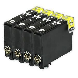 4 Black Ink Cartridges for Epson Stylus SX130, SX420W, SX430W, SX440W