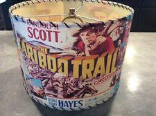 Vintage Wild Western Movie Lamp Shade Rare