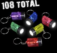 (108) MINI BULB FLASHLIGHT key chains - Party Favor Bright Light ~ (9 dozen)