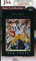 Dan Fouts 1993 Pinnacle Jsa Coa Hand Signed Authentic Autograph