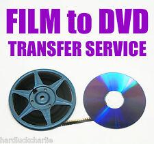 "REGULAR 8mm, SUPER 8mm FILM TO DVD OR DIGITAL FILES TRANSFER - ""A"" OPTION"