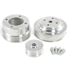 1986-1993 Mustang 5.0L Chrome Plated Steel Underdrive Pulleys 3 pc Set