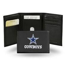 Dallas Cowboys NFL Team Logo Embroidered Leather TRIFOLD Wallet