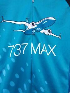 Voler Team Apparel 737 Max Boeing Cycling full Zip Blue short slv Mens Jersey s