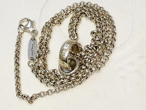 Authentic THOMAS SABO Sterling Silver Necklace & Charm Carrier Pendant 45cm