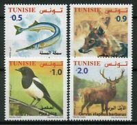 Tunisia 2018 MNH Fauna Magpie Jackal Deer 4v Set Fish Wild Animals Birds Stamps