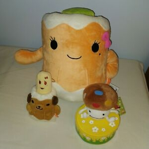 Lot of Chikuwa plush food w/ cucumber and Docomodake mushroom box Japan prizes