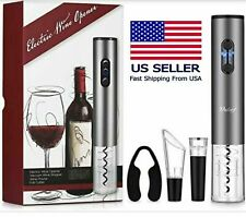 Electric Wine Opener Bottle Opener Kit Corkscrew W/ Foil Cutter,Stopper & pourer