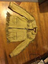 Vintage Wb Place Co Womens Mens Leather Leather Coat Western Janis Joplin Jacket