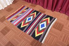 3' x 4' Oriental Geometric Handmade Vintage Wool Traditional Kilim Area Rug
