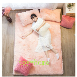 100% Coral Fleece Fabrics Winter Mattress Foldable Mats Folding Full Size Bed US