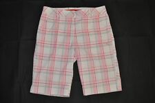 Women's PUMA-Golf Plaid Shorts White/Pink size 6 w/Moisture Management (T12) $70