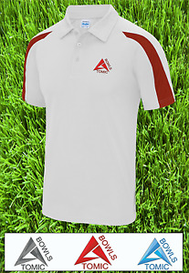 Atomic Bowls Mens Womens Unisex Performance Lawn Bowls AirTech Top Shirt