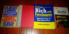 4 Books on Real Estate Investing Rentals Landlord Foreclosures Wealth Agent CFA