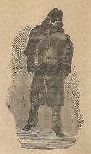 A3779 Studente bulgaro - Incisione - Stampa Antica del 1887