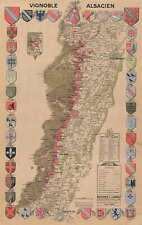 1949 Larmat Viticulture Wine Map of Alsace, France