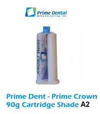 Prime Dent Temp Crown & Bridge Materia   - 1 x 90g cartridge- Refill - Shade A2