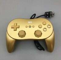 Official Nintendo Wii Classic Controller Pro Gold RVL-005 OEM Genuine B15