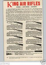 1920's PAPER AD King Brand Air Rifle BB Gun Guns Pop 1000 Shot Darts
