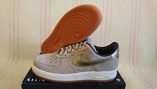 Wmns Sz 12 (=10.5 Men) Nike Air Force 1 '07 PRM Suede Gold 818595 200 AF1 Low