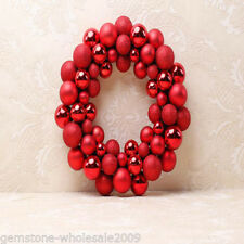 1Set Exquisite Christmas Pendant Ornament Ball Wreath Red Festive Decorations GW