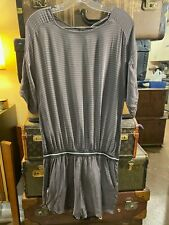 Humanoid TWO TONE Grey Jumpsuit shorts Romper Size small