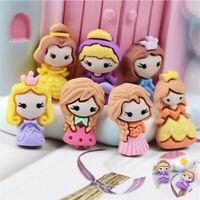 Princess DIY 10 pcs Cabochons Resin Craft Decor Flatbacks Girls 2-3cm Mixed
