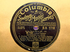 METRONOME ALL STARS - No Figs / Double Date 78 rpm disc (A+)