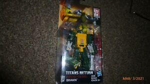 Transformers Generations Titans Return Brawn Legends Figure MOSC New!!