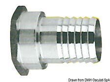 Portagomma inox femmina 3/8 x 15 mm | Marca Osculati | 17.210.01