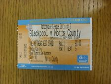 27/09/2003 Ticket: Blackpool v Notts County [Media Centre] . Bobfrankandelvis th