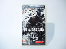 METAL GEAR SOLID PEACE WALKER complete in box with manual Sony PSP game PAL