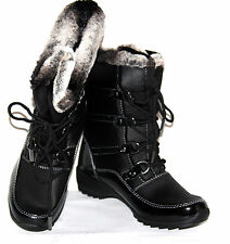 NEW Weatherproof 7M Lace-up Water Resistant Boots Janice BLACK