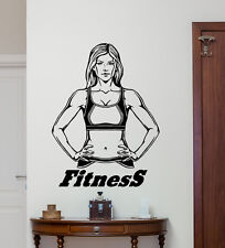 Fitness Wall Decal Gym Motivation Vinyl Sticker Sport Decor Quote Poster 49fit
