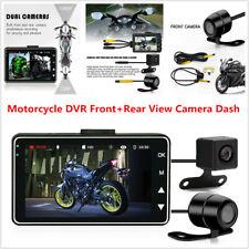 Motorcycle Bike DVR Front+Rear View Camera Dash Video Recorder G-Sensor 1080P HD
