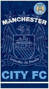 Manchester City Football Club Crest Badged Birthday Card