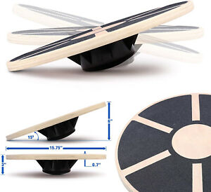 Wobble Yoga Balance Board Stability Trainer Wobble Wood Disc Rocker Non-Slip