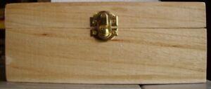 Wood Wooden Keepsake Jewelry Memory Treasure Scrapbook Memento Stash Craft Box