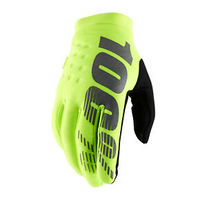 100% Brisker Cold Weather Gloves - Fluo Yellow