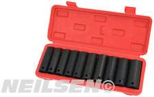 10 piezas 1.3cm llave hembra de alto impacto Set En Caso 10 11 13 14 17 18 19 21
