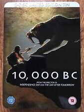 10,000 BC 2008 Ice Age / Caveman Action Epic Rare UK DVD Ltd Ed in Metal Case