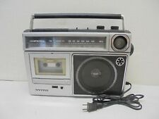 Vtg Sanyo portable AM FM cassette player boombox radio 2-way speakers rare M2563
