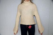 bonito grandes suéter lana de oveja merina extra fina crema m&F GIRBAUD talla XL
