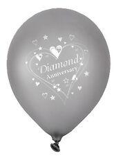 5 x Diamond Wedding Anniversary 60th wedding anniversary Balloons