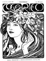 Cocorico 1899 Poster Alphonse Mucha Poster Art Nouveau Picture Print NEW