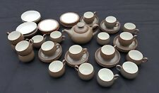 LARGE COLLECTION OF DENBY GREYSTONE TEA AND DINNERWARE.