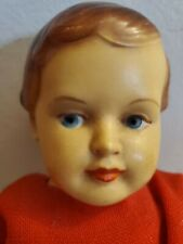 """Antique Celluloid 8 1/2"""" Jointed Doll Triangle JK Mark LOOK!"""